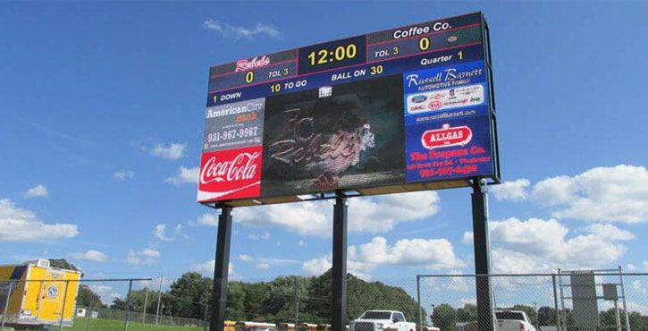 p5 outdoor football scoreboard led display