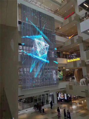 clear glass window shop led display