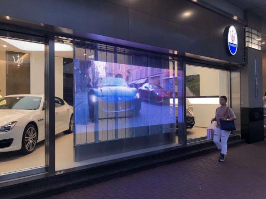 window glass shop led display wall (1)