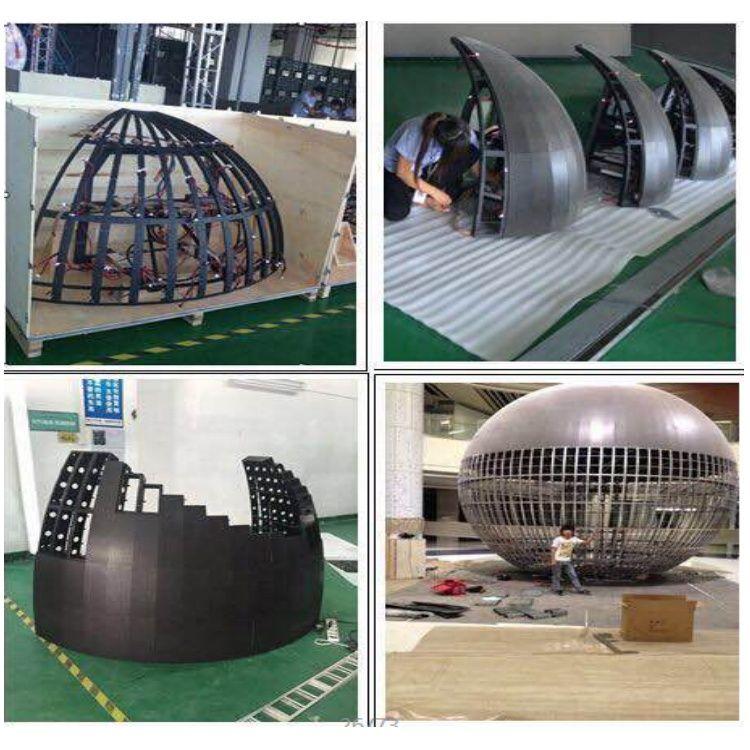 360 видимый творческий внутренний открытый сферический светодиодный дисплей (3)